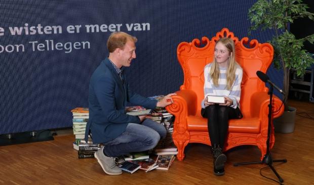 Ella van de Caeciliaschool uit Amersfoort mocht de regio Amersfoort vertegenwoordigen. fotografie © de Bibliotheek Eemland © BDU media