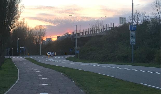 Zonsondergang boven A10