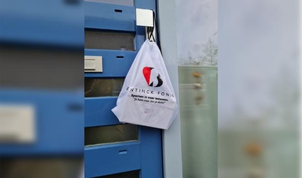 """Een Goody Bag voor sporters van het Bentinck Fonds. 'Je kunt meer dan je denkt!"""""""