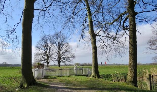 1Vanaf Landgoed Coelhorst met zicht op de Grebbelinie-dijk en de Eem