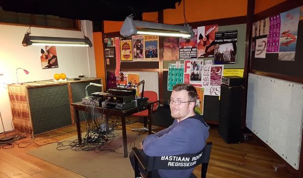 Bastiaan Rook op de set van zijn vorige film 'On Air'
