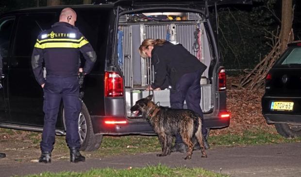 <p>De politie deed eerder deze week uitgebreid onderzoek in de omgeving van het Schaffelaarsebos.</p>