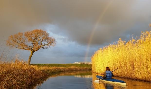 Kanovaren op de Kromme Rijn