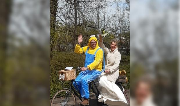 Het bruidspaar en route