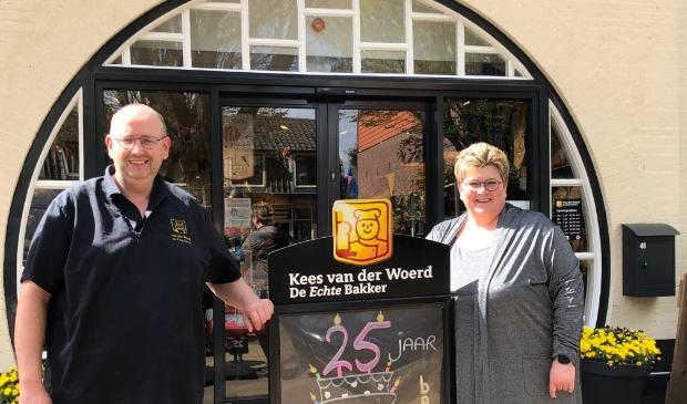 Mariska en Kees van der Woerd zijn trots op 25 jaar Bakkerij Van der Woerd.