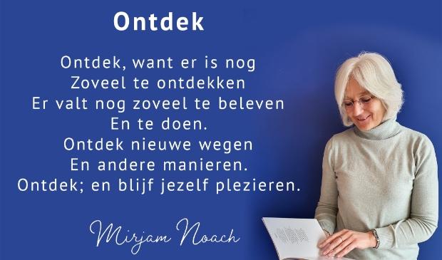 <p>Polderdichter Mirjam Noach draagt na twee jaar dichten het stokje over.</p>