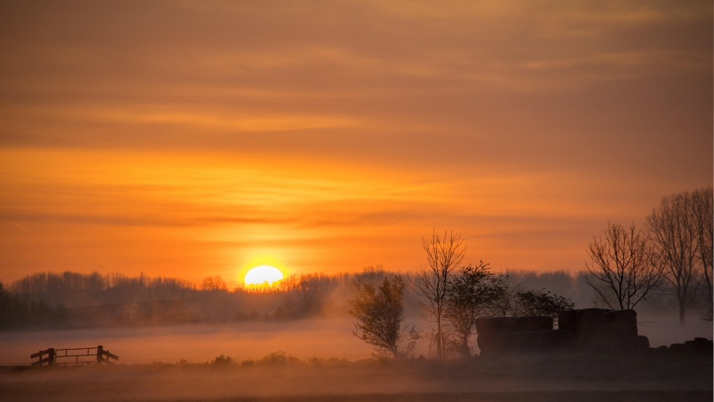 Zonsopkomst in de Eemvallei Dirk van Dijk © BDU media