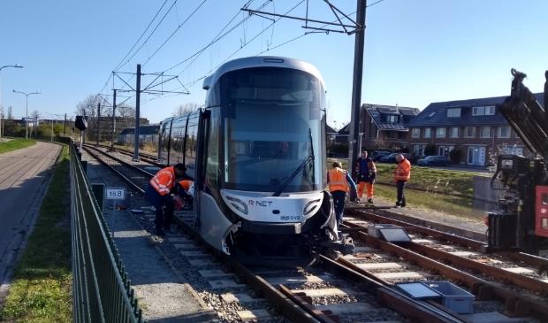 <p>Er wordt druk gewerkt om het traject weer vrij te maken voor tramverkeer.</p>