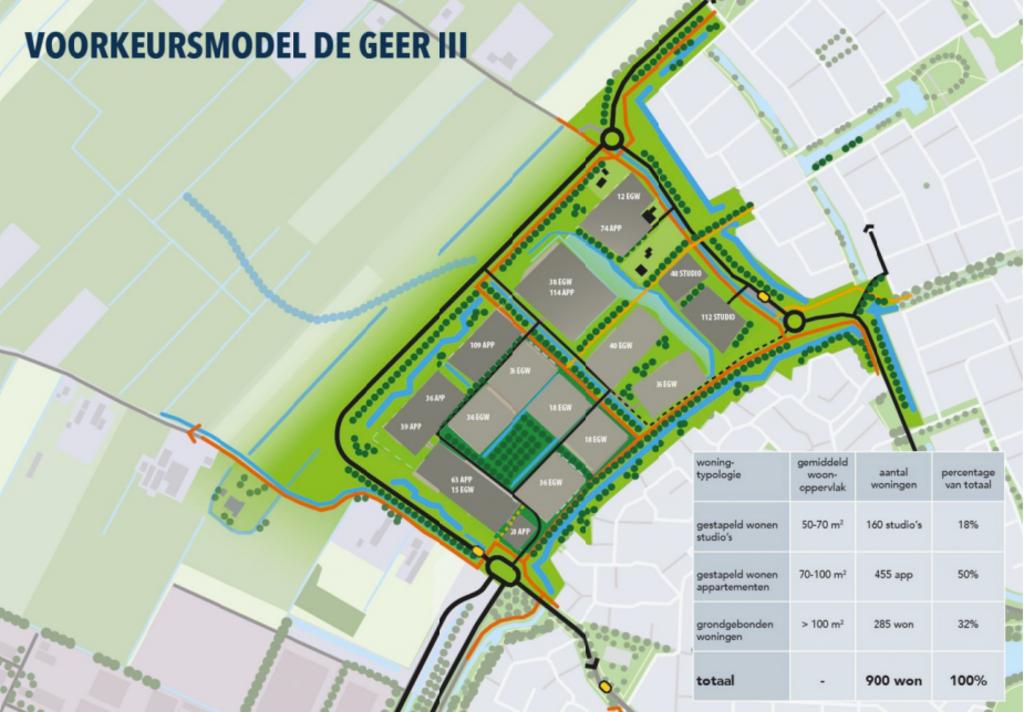 <p>De Geer III met een omgelegde Romeinenbaan</p> <p>screenshot wijkbijduurstede.nl</p> © BDU media