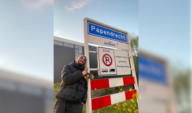 Jeroen van der Linden koprolde van Gorinchem naar Papendrecht.