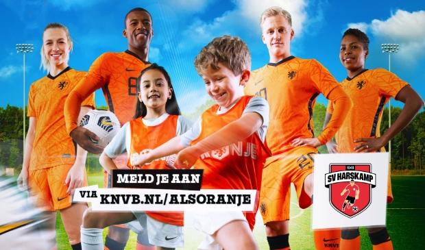 Voetballers vanuit de KNVB