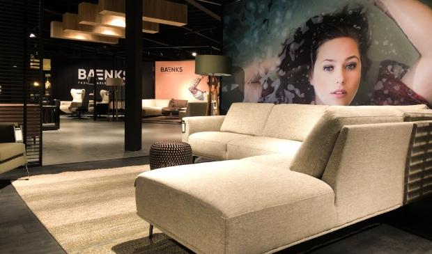 <p>De showroom is helemaal vernieuwd om het nieuwe merk Baenks alle ruimte te geven.&nbsp;</p>