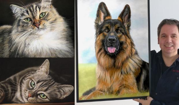 <p>Tim Fletcher maakt met pastel realistische schilderijen van dieren.&nbsp;</p>