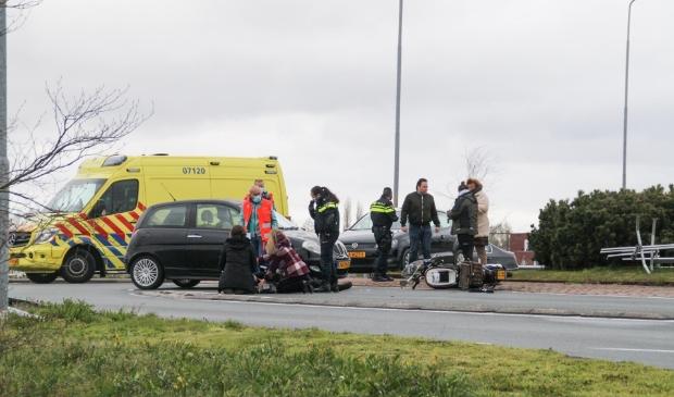 Ongeval op de rotonde van de Amersfoortseweg.