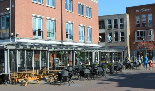 <p>Lege terrassen in het centrum van Barneveld.</p>