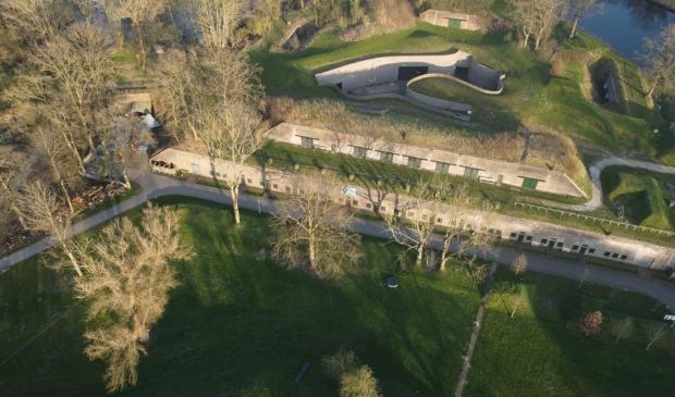 Dronebeelden van Fort Vechten