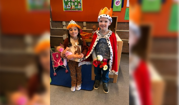 De koning en koningin op bezoek