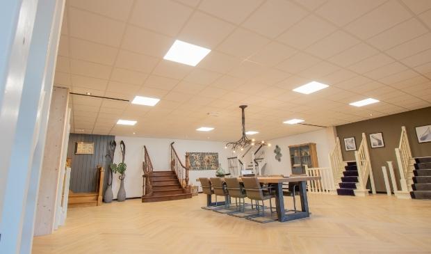 De showroom. Eén van de ruimtes die voorzien is van LED.