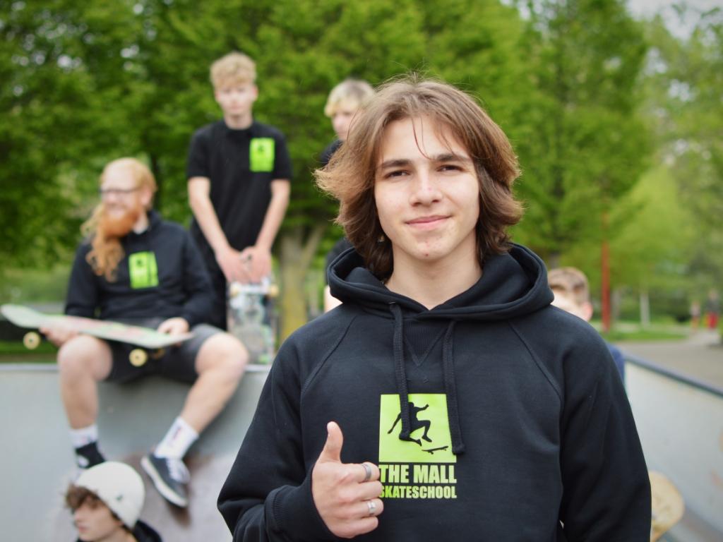 Martin Kostadinov (17 jaar): 'Met de skateschool hoop ik dat meer jongeren de kick ontdekken wanneer je een nieuwe trick leert.'  Nick Dees © BDU Media