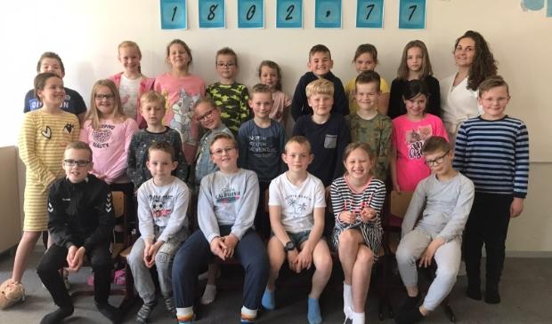 Toppers uit groep 5a van de Fraanjeschool de Vesting