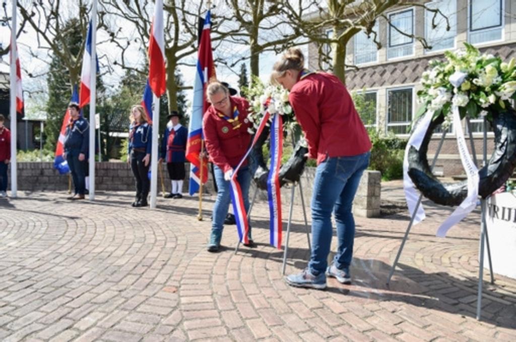 Ook in Soesterberg werkten scouts mee aan de herdenking. Jaap van den Broek © BDU media