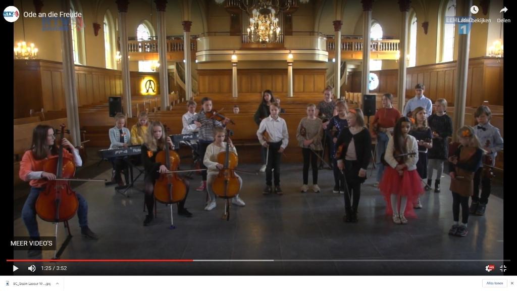 Ode an die Freude door leerlingen van de Muziekschool Baarn Soest. RTV Baarn  © BDU media