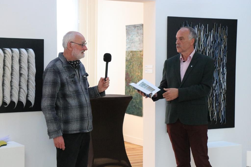 Dolf Middelhoff  met wethouder Gert-jan Bluijs. Wijnand Burger © BDU Media