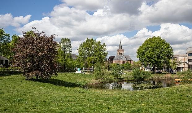 <p>Van het gebied tussen de Paasberg en het Oude Kerkplein wil de gemeente een levendig stadspark maken.&nbsp;</p>