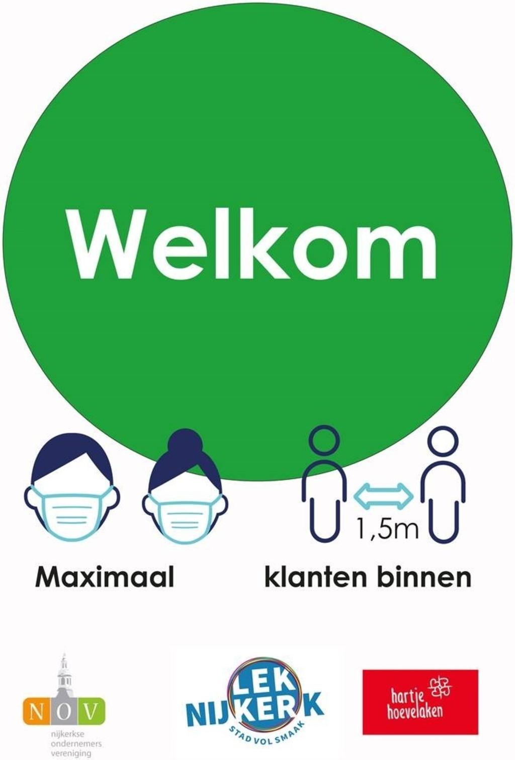 Het groene 'shoplicht'. Gemeente Nijkerk © BDU Media