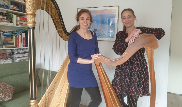 Links Annemieke IJzerman, rechts Ingeborg Verhoeven.