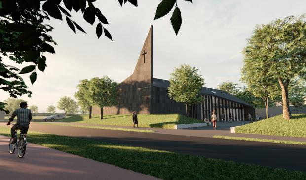 <p>Het ontwerp van de nieuwe kerk in Gorinchem-Oost</p>