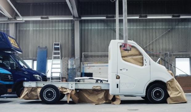 Werk in uitvoering bij Nieuw-Vennepse carrosseriebouwer
