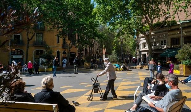 Autovrije groene pleinen in Barcelona. Carmen Santanella © BDU media