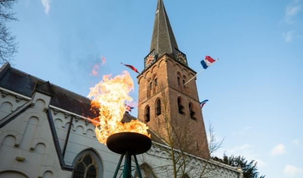 <p>Het bevrijdingsvuur brandt vandaag in Baarn.&nbsp;</p>