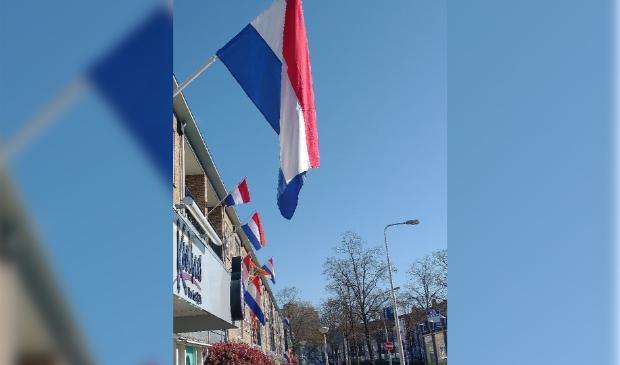 Vlaggen op bevrijdingsdag