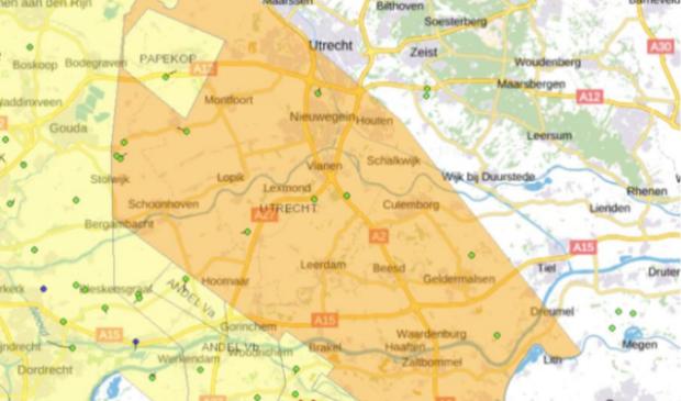 <p>Voor het oranje gebied heeft het ministerie een vergunning afgegeven</p>