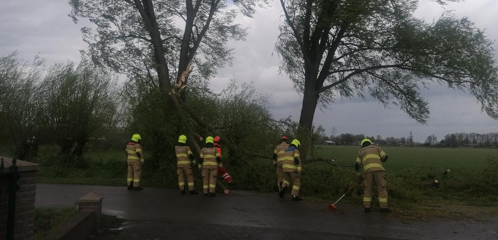 <p>Ook op de Langesteeg in Bennekom zorgde de harde wind voor schade.</p> Jan Vonk © BDU Media