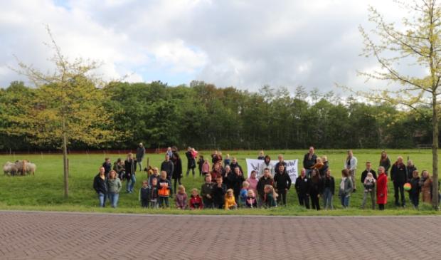 De bewoners vinden de locatie aan de Huybertsenweg niet geschikt voor flexwoningen. BDUmedia © BDU media