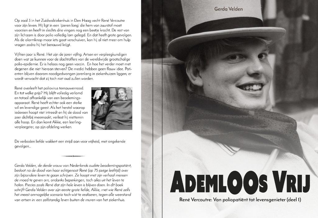 Boekcover Ademloos vrij  Gerda Vercoutre  © BDU media
