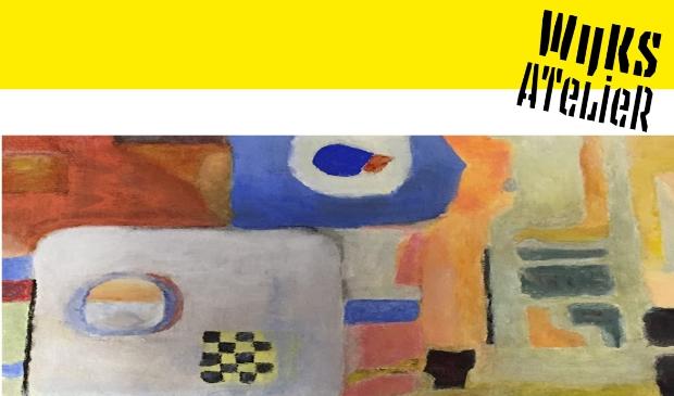 Logo Wijks Atelier met deel werk van cursist