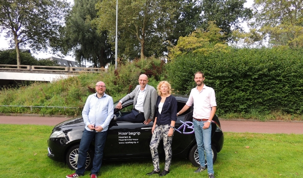 <p>Het team van Hoorbegrip v.l.n.r. Rex Wierenga, Erik Lodewijk, Herma Minnaard en Bart Alegra.&nbsp;</p>