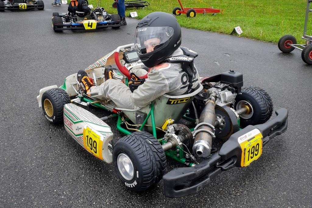 Lukas in 'zijn' Honda 9PK 4-takt. Ronald Stiefelhagen © BDU