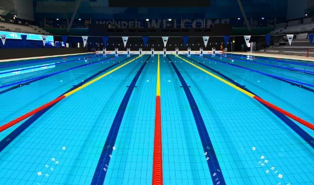 <p>Het zwembad in Boedapest.</p>