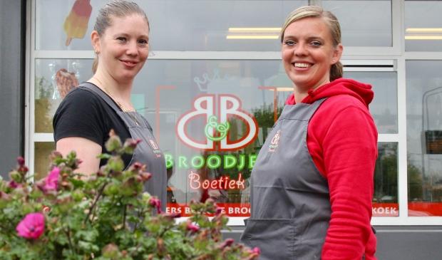 <p>Birgit en Britta van B&B Broodjesboetiek.</p>
