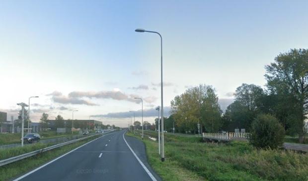 het deel van de N201 waar de tijdelijke afrit wordt aangelegd.
