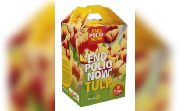 box met tulpen voor actie end polio now
