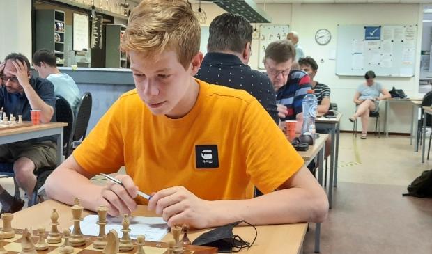 Maarten Hartkoren speelde sterk