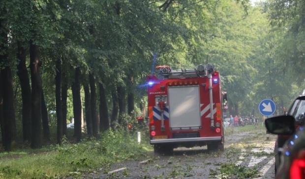 De storm van vrijdagmiddag heeft een ravage achtergelaten in Leersum. Kees van Kooten © BDU