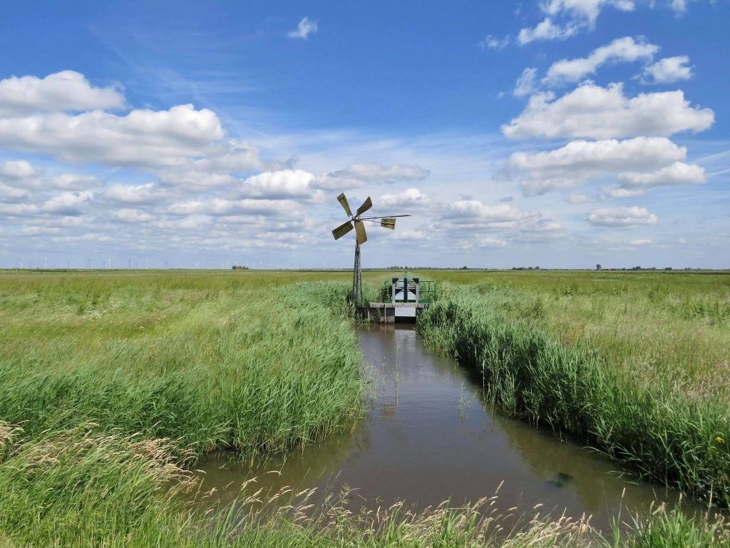 Nog werkzame Windmolen met op de achtergrond de Grote Jongens Onno Wijchers © BDU media