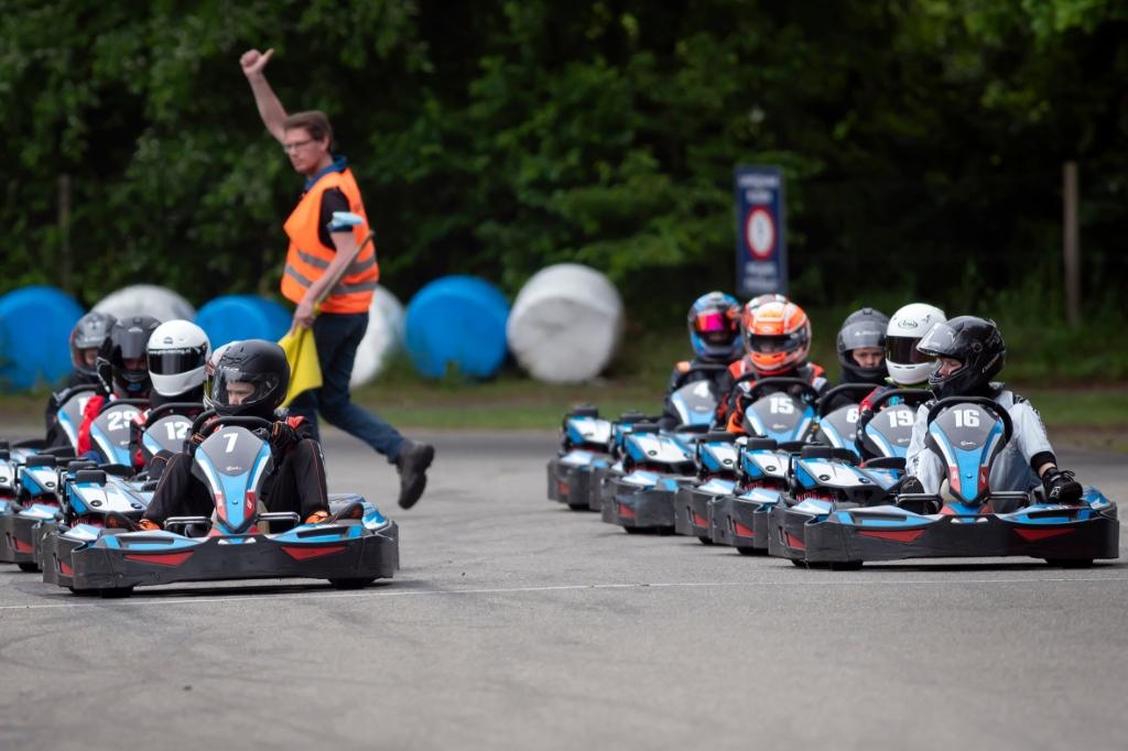 Op 'pole position' aan de start in de finale Ronald Stiefelhagen © BDU
